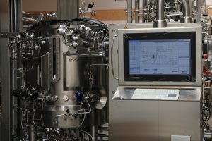 450L bioreactor with spin filter