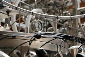 pressure gauge on bioreactor